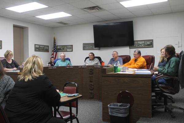 The school board listens to comments from the public. This marked the second meeting in a row the school board heard comments from the public regarding bullying and harassment. BA photo by James Norman