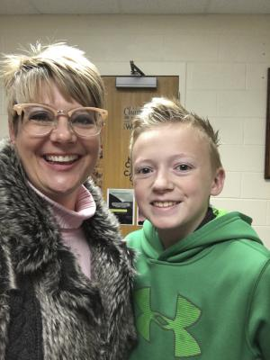 Eighth-grader Keaton Ragle won student of the month for the junior high. Photo contributed
