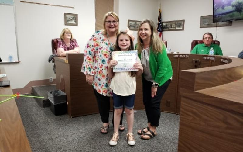 Kenzie Blackman was the Student of the month at North Elementary in the month of March. BA photo by James Norman