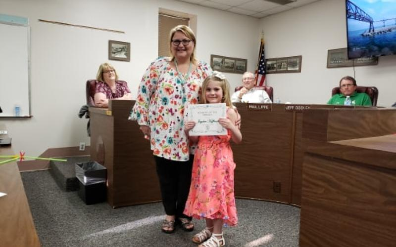 Jayden Huffman was the Student of the Month for North Elementary in February. BA photo by James Norman
