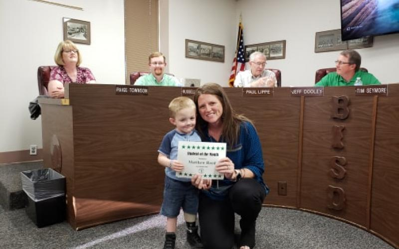 Matthew Reed was the Student of the Month at East Elementary for the month of February. BA photo by James Norman