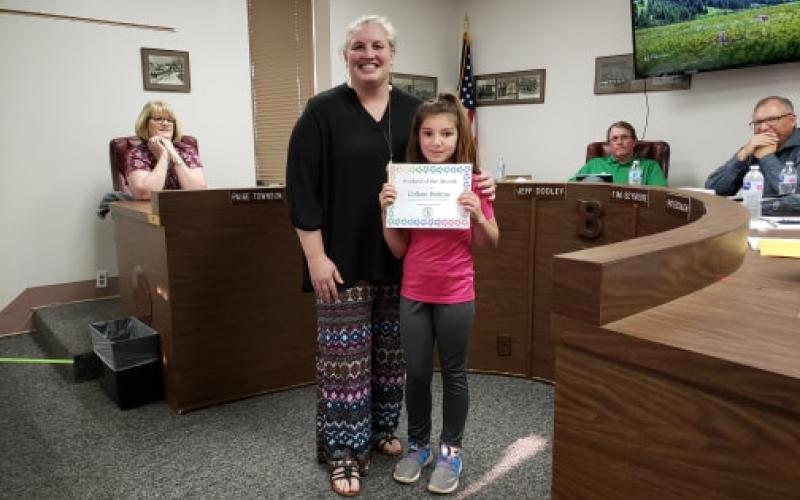 Collom Perkins was the Student of the month at South Elementary in the month of March. BA photo by James Norman