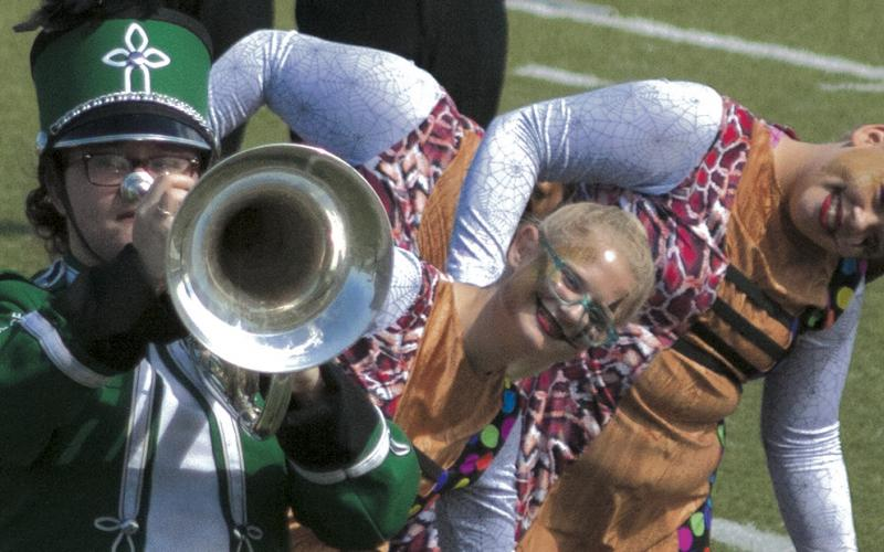 The Pride of Breckenridge High School band performs at the UIL Regional Band Competition in Early last Saturday.