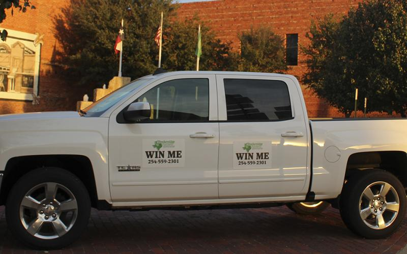 Shown here is a truck set to be raffled off by the Breckenridge Chamber of Commerce.