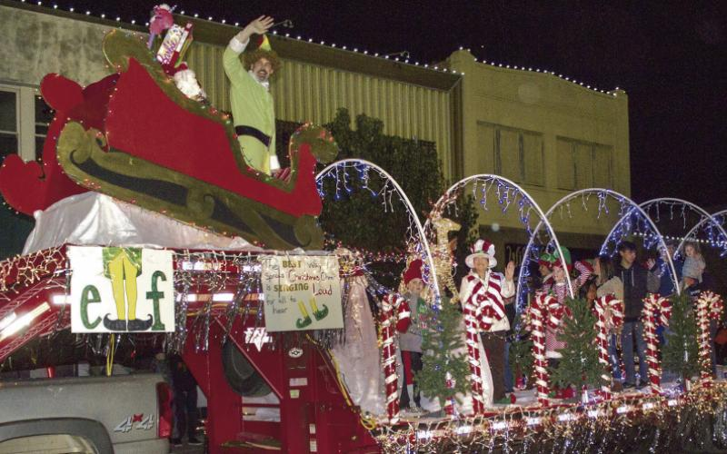 Shown here is a file photo from the 2016 Christmas parade in downtown.