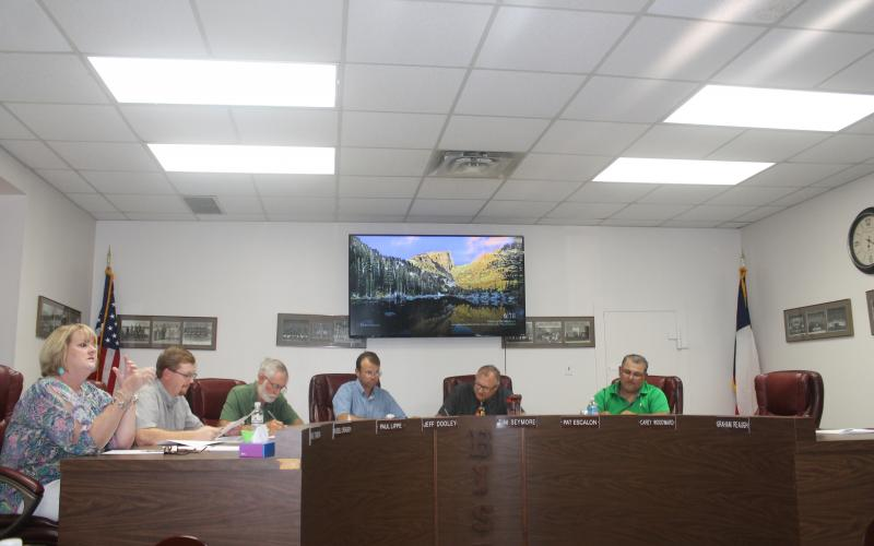 The Breckenridge ISD School Board holds a special meeting Aug. 28, 2018 to ratify the new budget and tax rate. Their next regular meeting was held Sept. 10. BA photo by James Norman