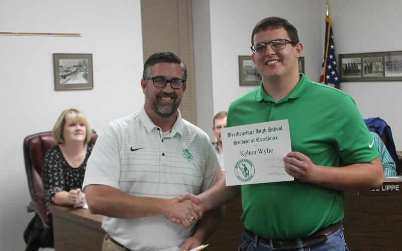 Senior Kelton Wylie won student of the semester at Breckenridge High School. BA photo by James Norman
