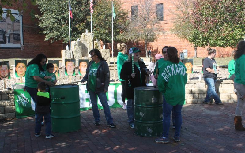Bucks fans banged on cans for 24 hours from Wednesday to Thursday at Foundation Park off Walker Street. BA photo by James Norman