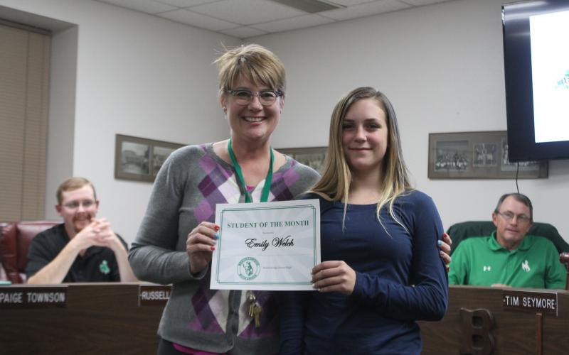 Emily Welch was student of the month at the junior high. BA photo by James Norman