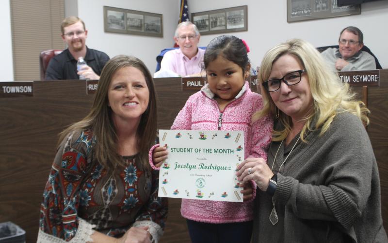Jocelyn Rodriguez won SOTM for East Elementary School. BA photo by James Norman