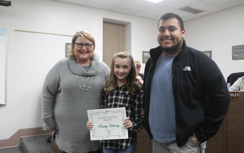 Paisley Herring won SOTM for North Elementary School. BA photo by James Norman