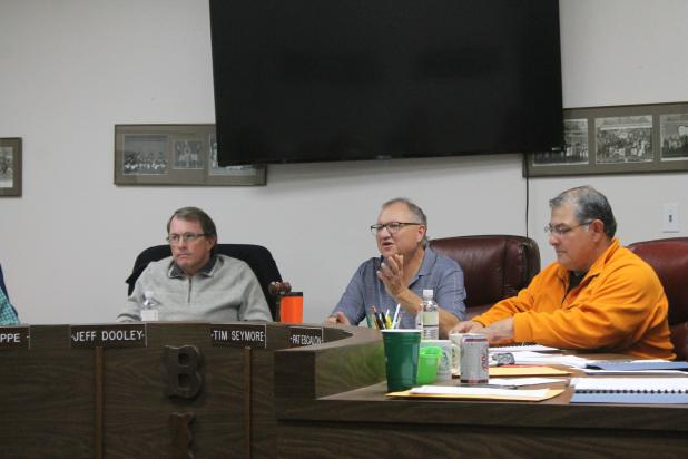 The School Board met this week and had comments from the public, as well as students of the month. BA photo by James Norman