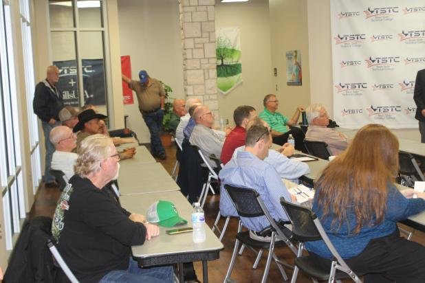 Several people were in attendance of the town hall at the TSTC Technology Center. In total, about five questions were asked. BA photo by James Norman