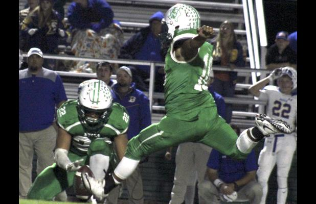 Breckenridge kicker Jose Escobedo splits the uprights on a game-winning kick to give Breckenridge its first district title since 1999.