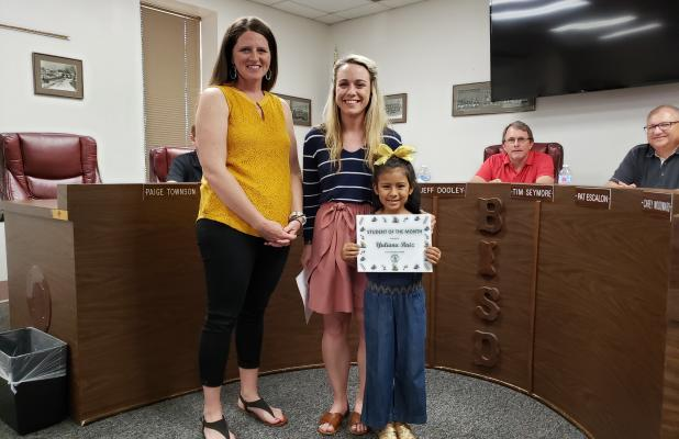 Yuliana Ruiz was selected as East Elementary's Student of the Month. BA photo by James Norman