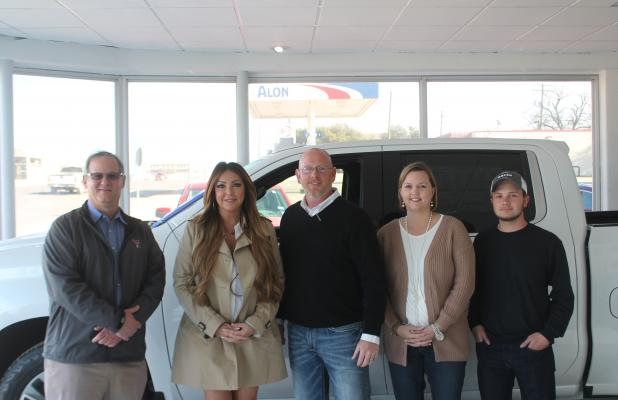 The new owners, the Bayer Motor Co., have decades of experience all over the area. Pictured from left to right are Chas Bayer, Lucy Larose, Zach Smith, Julie McNett and Aaron Franks. BA photo by James Norman