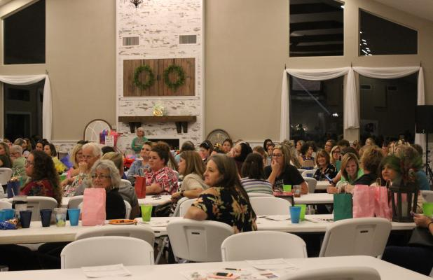 Chandelier Ridge was the site for the second annual SMH Auxiliary Bunco Night fundraiser. The event supports many of the big ticket items the SMH Auxiliary purchases each year. Currently, the auxiliary is furnishing a Hospice Room at SMH. BA photo by Jean Hayworth