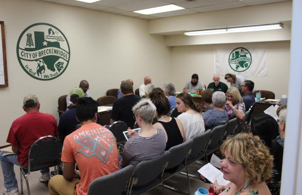 More than three dozen residents were in attendance at this month's city commissioner's meeting. BA photo by James Norman