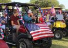 Golf Cart Parade for 4th of July celebration